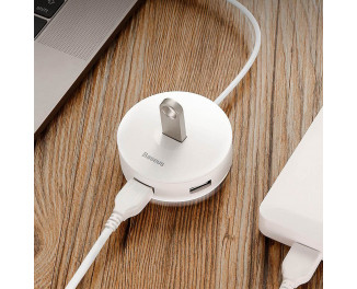 Адаптер USB Type С/USB > Hub  Baseus Round Box 5-in-1 (USB 2.0, USB 3.0, MicroUSB) (CAHUB-GB02) /white