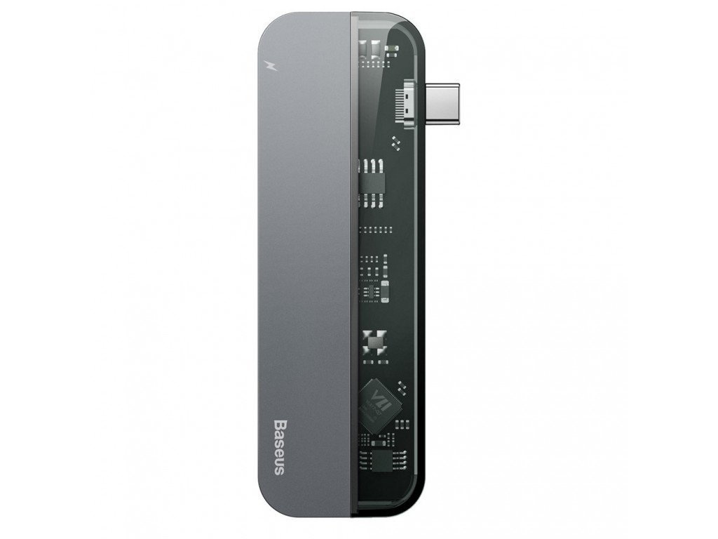 Адаптер USB Type-C > Hub  Baseus Multi-functional 5-in-1 (USB-C, USB, PD, 4KHD) /gray