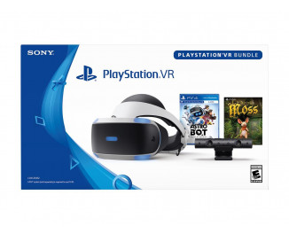 Очки виртуальной реальности Sony PlayStation VR + PlayStation Camera + Game Astro Bot Rescue Mission + Game Moss Bundle (CUH-ZVR2)
