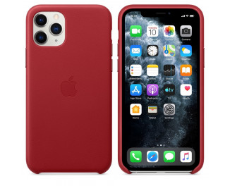 Чехол для Apple iPhone 11 Pro  Apple Leather Case (PRODUCT) RED (MWYF2ZM/A)