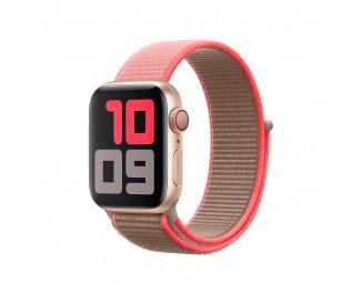 Нейлоновый ремешок для Apple Watch 42/44 mm Apple Sport Loop Neon Pink (MXMU2ZM/A)