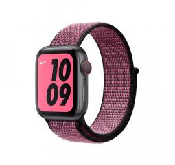 Нейлоновый ремешок для Apple Watch 42/44 mm Apple Nike Sport Loop Pink Blast/True Berry (MWU42ZM/A)