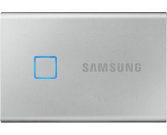 Внешний SSD накопитель 2 TB Samsung T7 Touch Silver (MU-PC2T0S/WW)