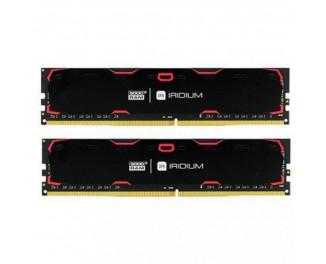 Оперативная память DDR4 32 Gb (2400 MHz) (Kit 16 Gb x 2) GOODRAM Iridium Black (IR-2400D464L17/32GDC)