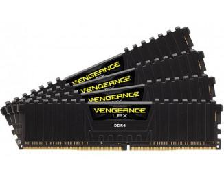 Оперативная память DDR4 32 Gb (3600 MHz) (Kit 8 Gb x 4) Corsair Vengeance LPX Black (CMK32GX4M4D3600C18)