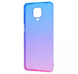 Чехол для смартфона Xiaomi Redmi Note 9S / Note 9 Pro  Silicone 0.5 mm Gradient Design /blue&pink