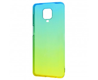 Чехол для смартфона Xiaomi Redmi Note 9S / Note 9 Pro  Silicone 0.5 mm Gradient Design /green&yellow