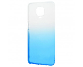 Чехол для смартфона Xiaomi Redmi Note 9S / Note 9 Pro  Silicone 0.5 mm Gradient Design /white&blue