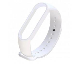 Силиконовый ремешок Xiaomi Mi Band 5 White