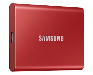 Внешний SSD накопитель 1 TB Samsung T7 Red (MU-PC1T0R/WW)