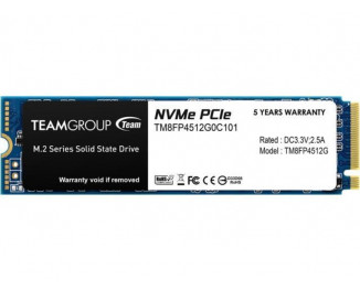 SSD накопитель 512Gb Team Group MP34 M.2 (TM8FP4512G0C101)