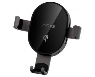Автодержатель с беспроводной зарядкой Xiaomi 70mai Wireless Charger Car Mount (MidrivePB01) Black