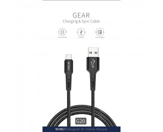 Кабель USB Type-C > USB  Wiwu Gear G20 Black