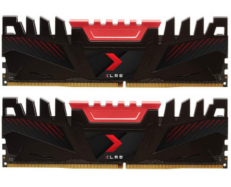Оперативная память DDR4 16 Gb (2666 MHz) (Kit 8 Gb x 2) PNY XLR8 (MD16GK2D4266616XR)