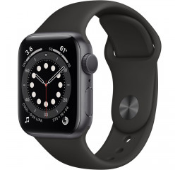 Смарт-часы Apple Watch Series 6 GPS 40mm Space Gray Aluminum Case with Black Sport Band (MG133)