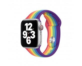Силиконовый ремешок для Apple Watch 42/44 mm Apple Sport Band Pride Edition (MY1Y2ZM/A)