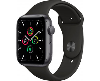 Смарт-часы Apple Watch SE GPS 44mm Space Gray Aluminum Case with Black Sport Band (MYDT2)