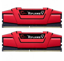 Оперативная память DDR4 8 Gb (2400 MHz) (Kit 4 Gb x 2) G.SKILL Ripjaws V Red (F4-2400C17D-8GVR)