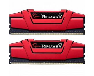 Оперативная память DDR4 8 Gb (2400 MHz) (Kit 4 Gb x 2) G.SKILL Ripjaws V Red (F4-2400C17D-8GVR)