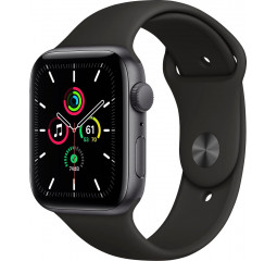 Смарт-часы Apple Watch SE GPS 40mm Space Gray Aluminum Case with Black Sport Band (MYDP2)