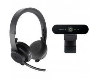 Web камера Logitech Pro Personal Video Collaboration Kit (Zone Wireless + BRIO) (991-000309)