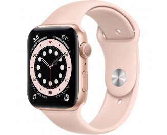 Смарт-часы Apple Watch Series 6 GPS 44mm Gold Aluminum Case with Pink Sand Sport Band (M00E3)