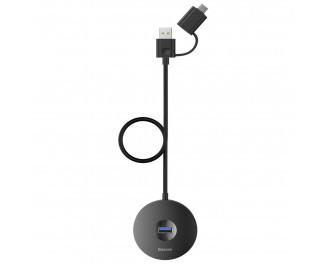 Адаптер USB Type С/USB > Hub  Baseus Round Box 5-in-1 1.0m (USB 2.0, USB 3.0, MicroUSB) (CAHUB-GA01) Black