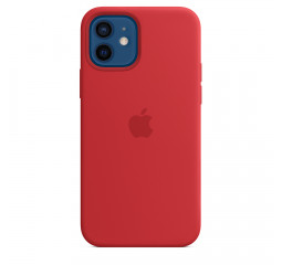 Чехол для Apple iPhone 12 / 12 Pro  Apple Silicone Case with MagSafe (PRODUCT) RED (MHL63)