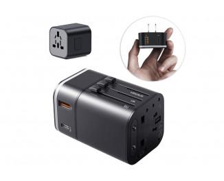 Сетевое зарядное устройство Baseus Removable 2in1 universal travel adapter PPS Quick Charger Edition PD+QC3.0 18W (TZPPS-01) Black