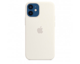 Чехол для Apple iPhone 12 mini  Apple Silicone Case with MagSafe White (MHKV3)