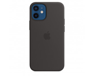 Чехол для Apple iPhone 12 mini  Apple Silicone Case with MagSafe Black (MHKX3)