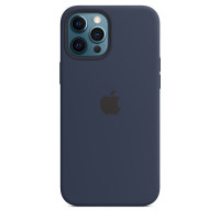 Чехол для Apple iPhone 12 Pro Max  Apple Silicone Case with MagSafe Deep Navy (MHLD3)