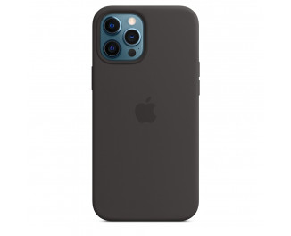 Чехол для Apple iPhone 12 Pro Max  Apple Silicone Case with MagSafe Black (MHLG3)