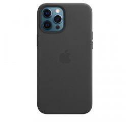 Чехол для Apple iPhone 12 Pro Max  Apple Leather Case with MagSafe Black (MHKM3)