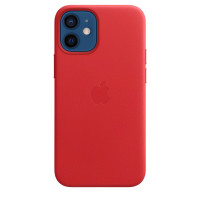 Чехол для Apple iPhone 12 mini  Apple Leather Case with MagSafe (PRODUCT)RED (MHK73)