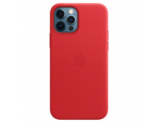 Чехол для Apple iPhone 12 Pro Max  Apple Leather Case with MagSafe (PRODUCT)RED (MHKJ3)