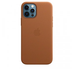 Чехол для Apple iPhone 12 Pro Max  Apple Leather Case with MagSafe Saddle Brown (MHKL3)