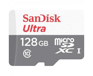 Карта памяти microSD 128Gb SanDisk Ultra class 10 UHS-I + SD адаптер (SDSQUNR-128G-GN3MA)