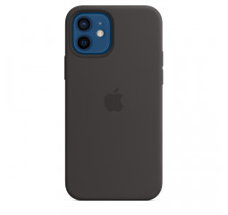 Чехол для Apple iPhone 12 / 12 Pro  Apple Silicone Case with MagSafe Black (MHL73)