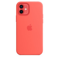 Чехол для Apple iPhone 12 mini  Silicone Case with MagSafe Pink Citrus
