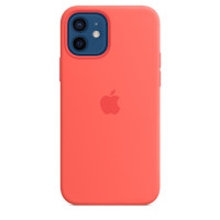 Чехол для Apple iPhone 12 / 12 Pro  Silicone Case with MagSafe Pink Citrus