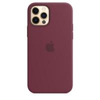 Чехол для Apple iPhone 12 Pro Max  Silicone Case with MagSafe Plum