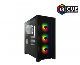Корпус Corsair iCUE 4000X RGB Tempered Glass Black (CC-9011204-WW) без БП
