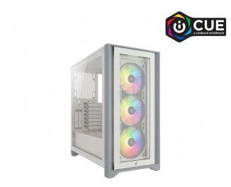 Корпус Corsair iCUE 4000X RGB Tempered Glass White (CC-9011205-WW) без БП