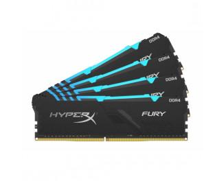 Оперативная память DDR4 64 Gb (3000 MHz) (Kit 16 Gb x 4) Kingston HyperX Fury RGB (HX430C16FB4AK4/64)