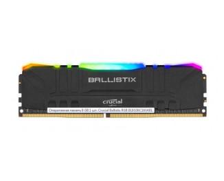 Оперативная память DDR4 8 Gb (3600 MHz) Crucial Ballistix RGB Black (BL8G36C16U4BL)