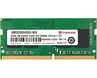 Память для ноутбука SO-DIMM DDR4 8 Gb (3200 MHz) Transcend JetRam (JM3200HSG-8G)