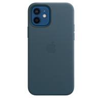 Чехол для Apple iPhone 12 / 12 Pro  Leather Case with MagSafe Baltic Blue