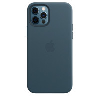 Чехол для Apple iPhone 12 Pro Max  Leather Case with MagSafe Baltic Blue