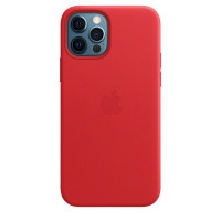 Чехол для Apple iPhone 12 Max  Leather Case with MagSafe (PRODUCT)RED